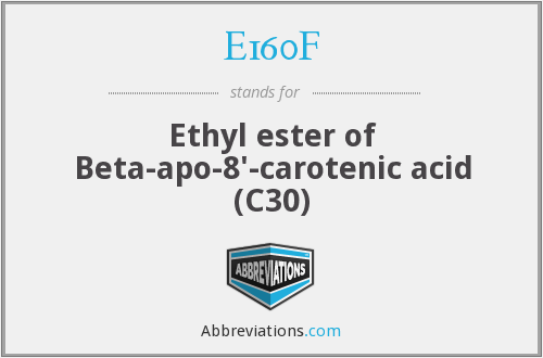 E160F - Ethyl ester of Beta-apo-8'-carotenic acid (C30)