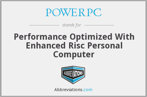 What does POWER PC stand for?