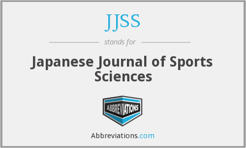 JJSS - Japanese Journal of Sports Sciences