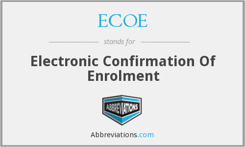 ECOE - Electronic Confirmation Of Enrolment