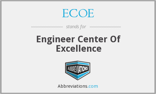 ECOE - Engineer Center Of Excellence