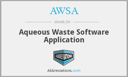 AWSA - Aqueous Waste Software Application