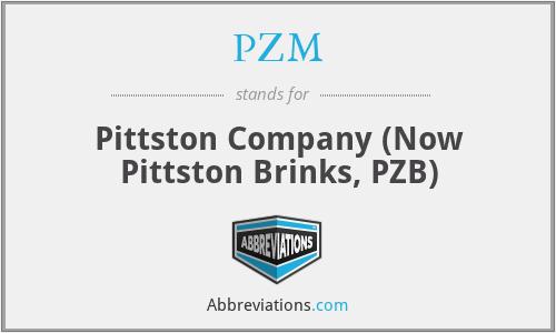 PZM - Pittston Company (Now Pittston Brinks, PZB)