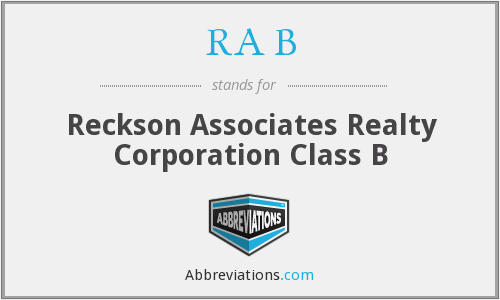 RA B - Reckson Associates Realty Corporation Class B