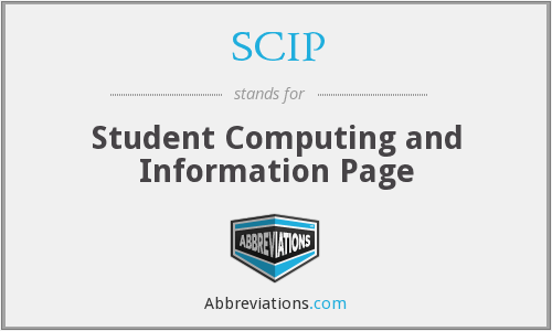 SCIP - Student Computing And Information Page