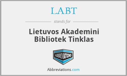 LABT - Lietuvos Akademini Bibliotek Tinklas
