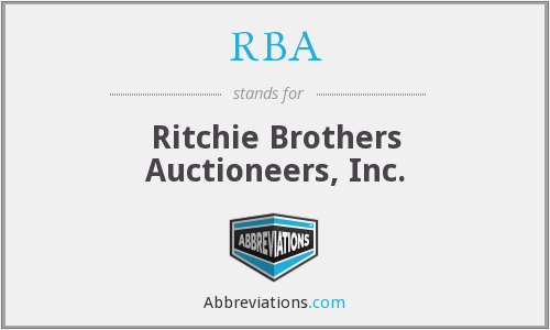 RBA - Ritchie Brothers Auctioneers, Inc.
