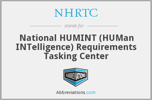NHRTC - National HUMINT (HUMan INTelligence) Requirements Tasking Center