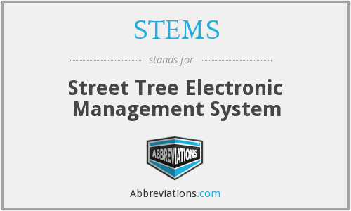 STEMS - Street Tree Electronic Management System
