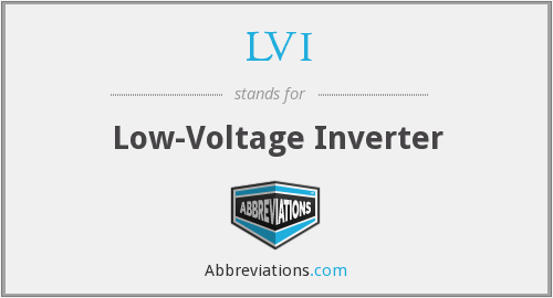 LVI - Low-Voltage Inverter