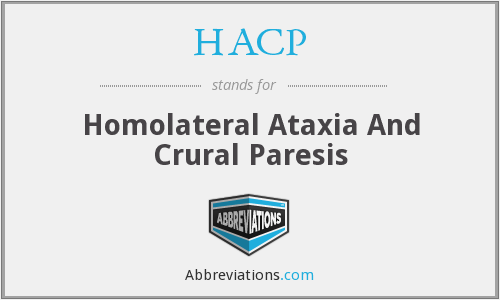 HACP - Homolateral Ataxia And Crural Paresis