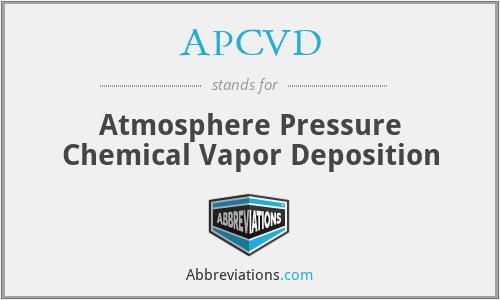 APCVD - Atmosphere Pressure Chemical Vapor Deposition