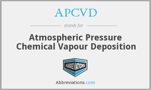 APCVD - Atmospheric Pressure Chemical Vapour Deposition
