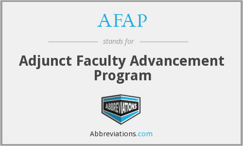 AFAP - Adjunct Faculty Advancement Program