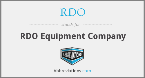 RDO - RDO Equipment Company