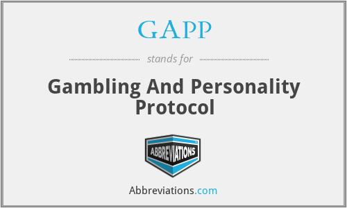 GAPP - Gambling And Personality Protocol