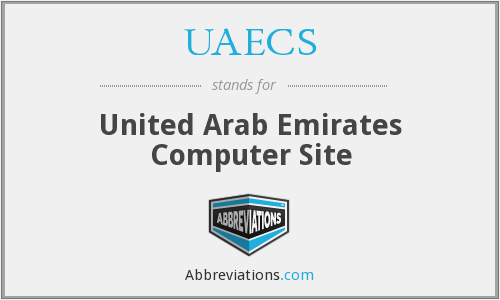 UAECS - United Arab Emirates Computer Site