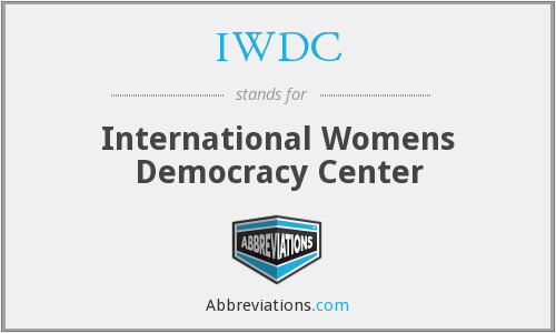 IWDC - International Womens Democracy Center
