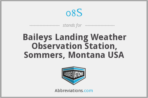 08S - Baileys Landing Weather Observation Station, Sommers, Montana USA