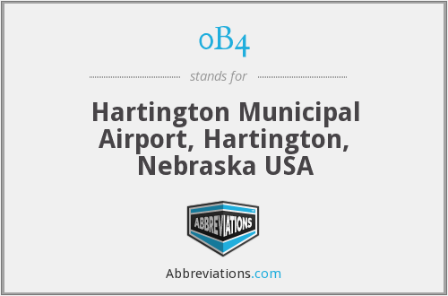 0B4 - Hartington Municipal Airport, Hartington, Nebraska USA