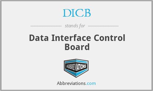 DICB - Data Interface Control Board
