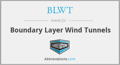 BLWT - Boundary Layer Wind Tunnels