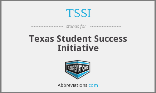 TSSI - Texas Student Success Initiative