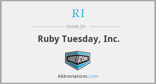 RI - Ruby Tuesday, Inc.