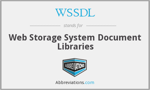 What does WSSDL stand for?
