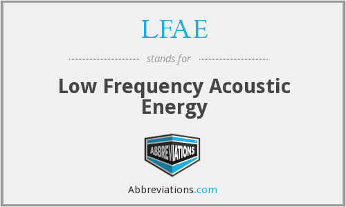 LFAE - Low Frequency Acoustic Energy