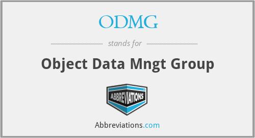 ODMG - Object Data Mngt Group