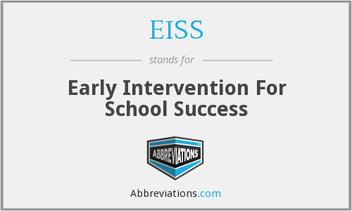 EISS - Early Intervention For School Success
