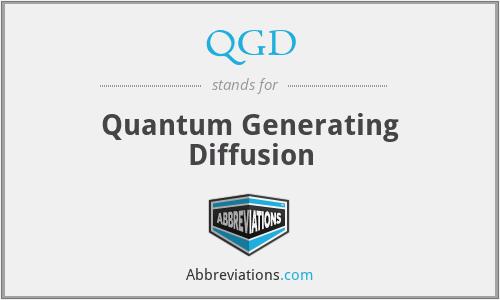 QGD - Quantum Generating Diffusion