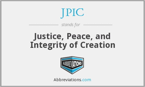 JPIC - Justice, Peace, and Integrity of Creation