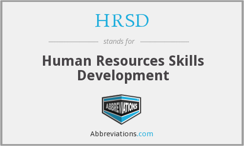 HRSD - Human Resources Skills Development