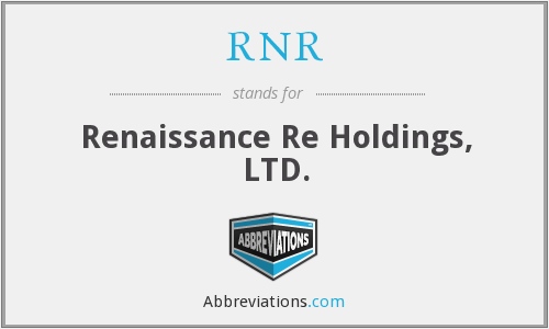 RNR - Renaissance Re Holdings, LTD.