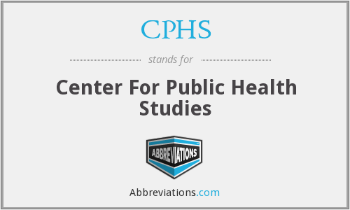 CPHS - Center For Public Health Studies