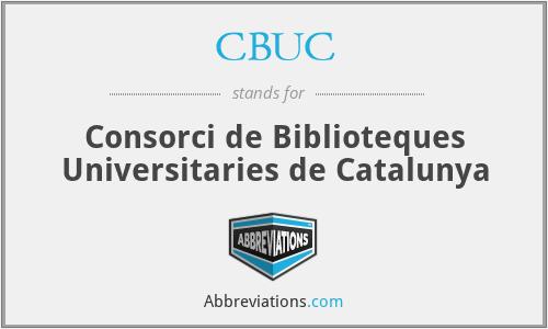 CBUC - Consorci De Biblioteques Universitaries De Catalunya