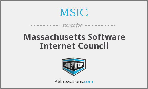 MSIC - Massachusetts Software Internet Council