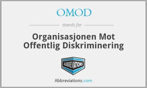 OMOD - Organisasjonen Mot Offentlig Diskriminering