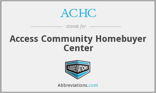 ACHC - Access Community Homebuyer Center