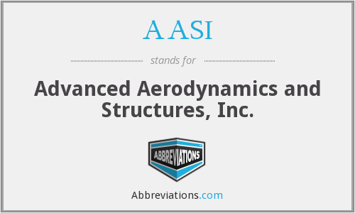 AASI - Advanced Aerodynamics and Structures, Inc.