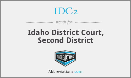 IDC2 - Idaho District Court, Second District