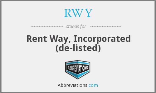 RWY - Rent Way, Incorporated  (de-listed)