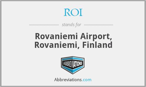ROI - Rovaniemi Airport, Rovaniemi, Finland