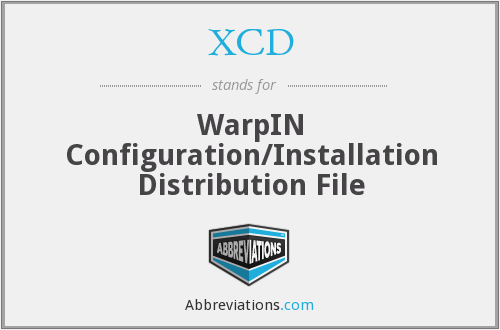 XCD - WarpIN Configuration/Installation Distribution File