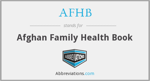 AFHB - Afghan Family Health Book