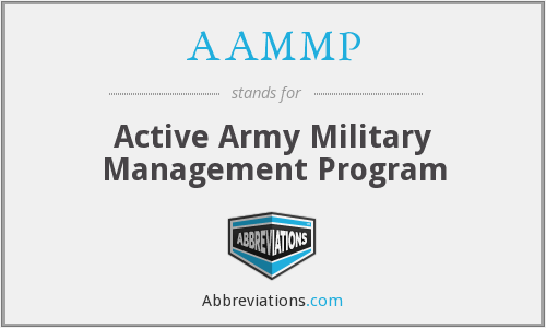 AAMMP - Active Army Military Management Program