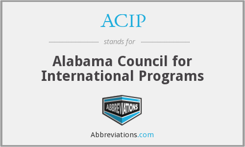 ACIP - Alabama Council for International Programs