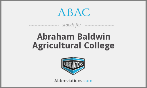 ABAC - Abraham Baldwin Agricultural College